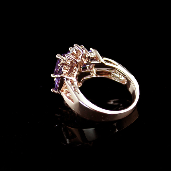 Faux Crystal Embellished Alloy Ring