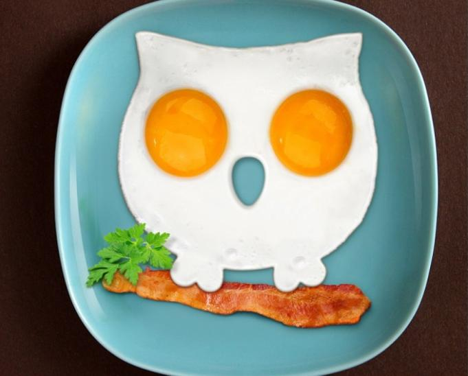 Silicone Owl Shape Style Egg Frying Mould Frying Pancake Mold Breakfast Mould for Kitchen Picnic