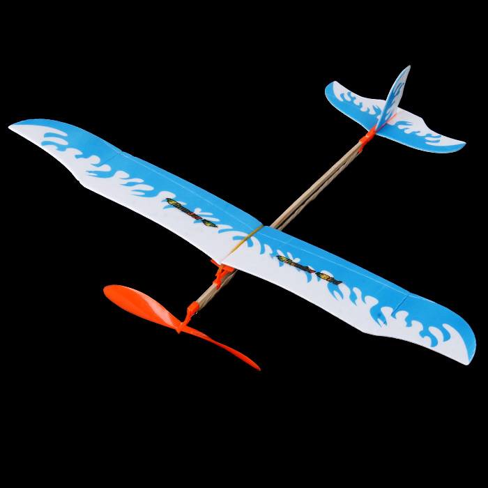 DIY Assembling Rubber Band Powered Glider Inertial Educational Toy