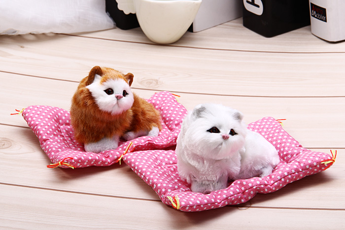Simulation animal endormi Cat Toy Craft avec Sound