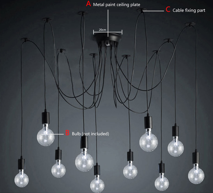 E27 Socket Edison Retro Style Pendant Lamp Holder