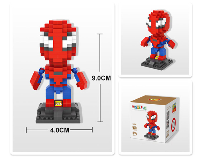 LOZ 240Pcs L - 9456 Superhero Building Block Educational Toy Christmas Present