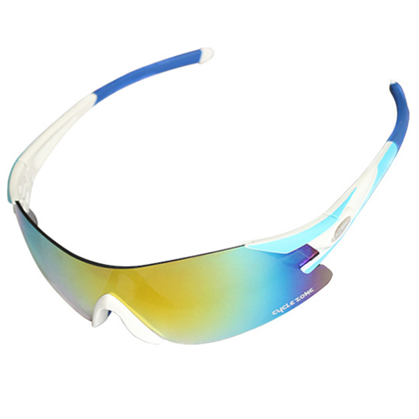 Outdoor Sports Cycling Equipment Colorful Anti-UV Rimless Sunglasses