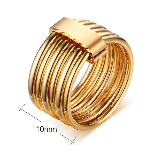 Gold Plated Multilayered Ring