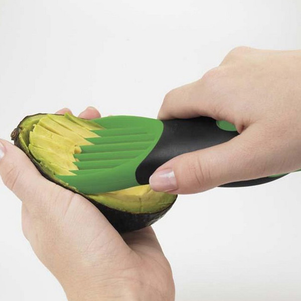 Hot 3 In 1 Kitchen Cooking Tool Fruit Cutter Avocado Slicers Shea Butter Knife