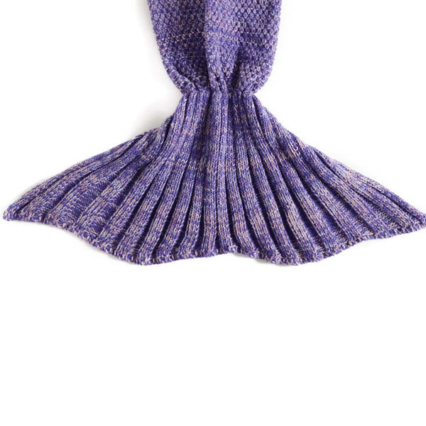 2016 Chic écaille de poisson Tail Shape Flouncing Sac de couchage Mermaid design Knitting Blanket For Kids