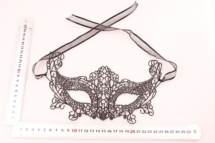 One PCS Black Lace Hollow Out Upper Half Face Carnival Masquerade Masks