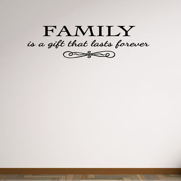Vinyl Family Proverbs Waterproof Removable Wall Stickers