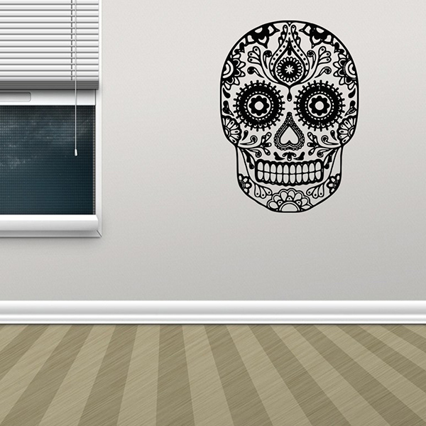 Removable Waterproof Halloween Skull Art Wall Stickers