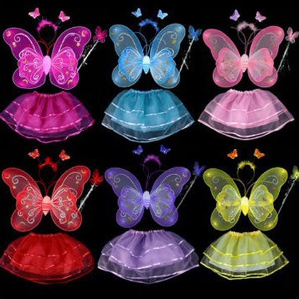 Ange papillon Halloween Dress Up 4PCS enfants Costume Set