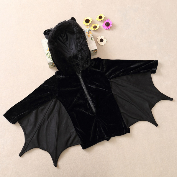 Halloween Party cosplay Bat Zipper Jumpsuit Connect Ailes Enfants Costume For Girls