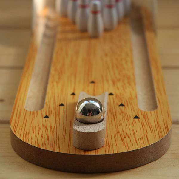 Hot vente Mini Divertissement en bois de bureau Bowling Game Set