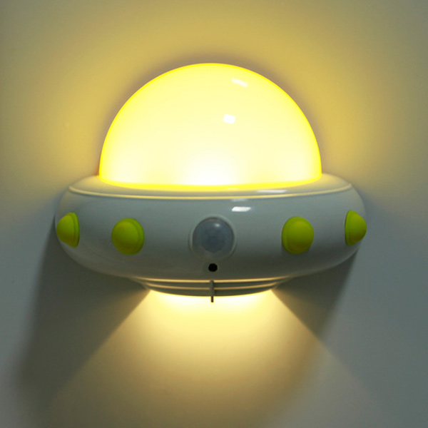 Smart Sensor UFO Shape USB Charging Bedside LED Night Light