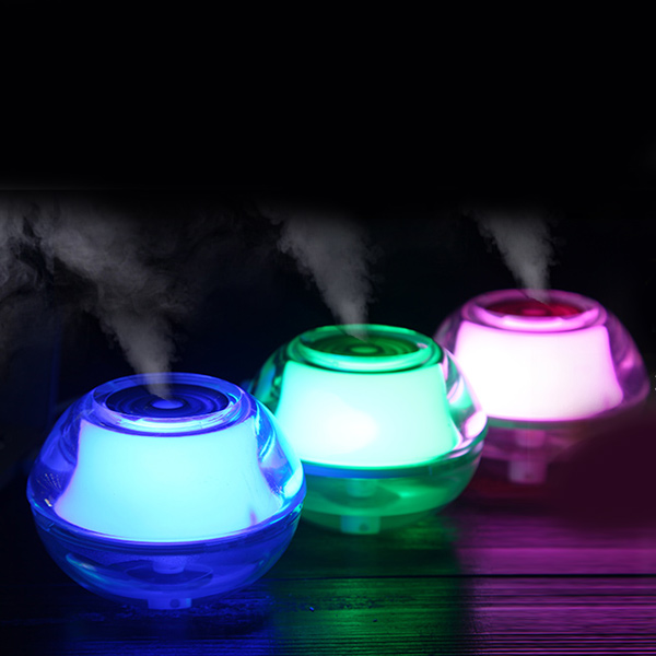 Humidificateur de veilleuse en cristal ,mini USB ,couleurs divers