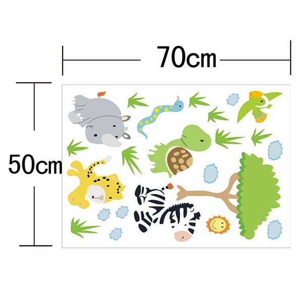 Cartoon Animals Forest Removeable Wall Sticker