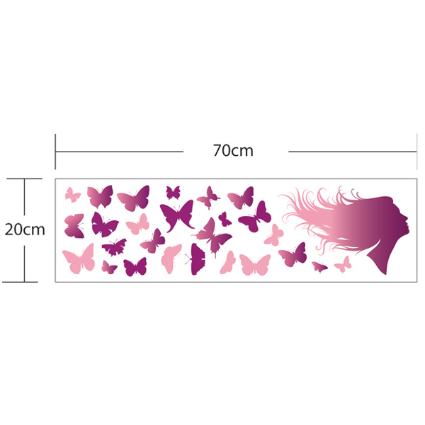 Butterfly of Love Removable Refrigerator Wall Stickers
