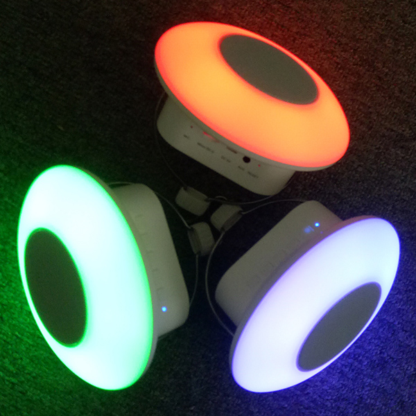 Mini Wireless Bluetooth Sound System Light With Hook