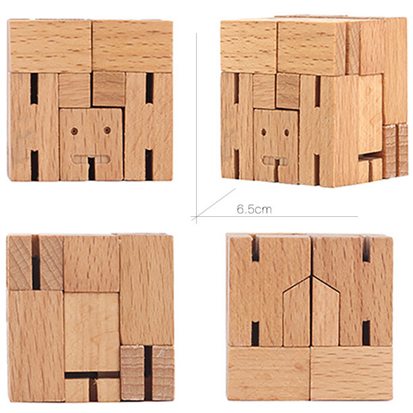 s 39 creative 3d rubik cube artisanat en bois robot jouet mod le en bois. Black Bedroom Furniture Sets. Home Design Ideas