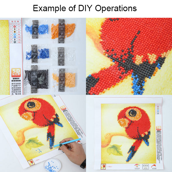 DIY Beads Painting Red Roses Cross Stitch