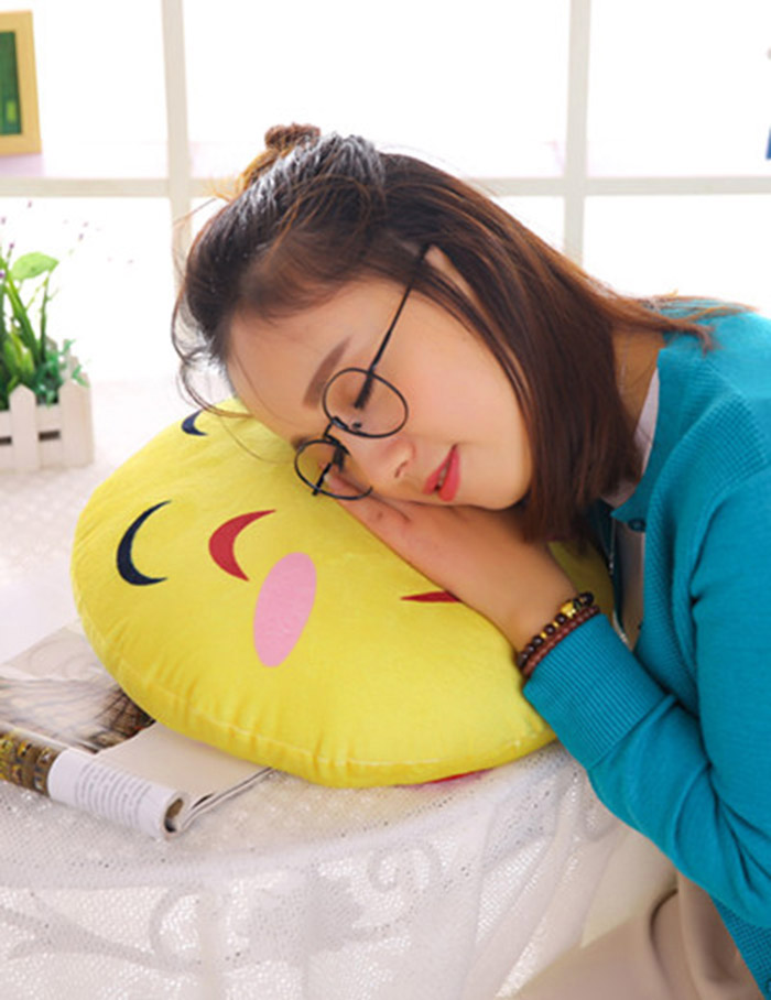 Soft Plush Round Face Expression Pillow