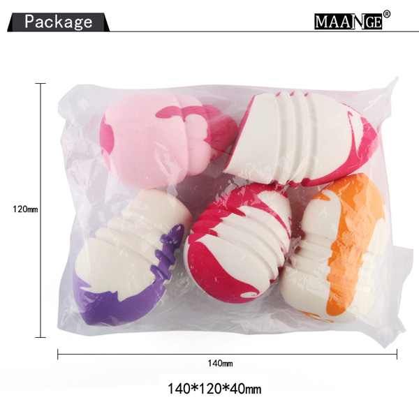 5 Pcs Multifunction Water Swellable Makeup Sponges