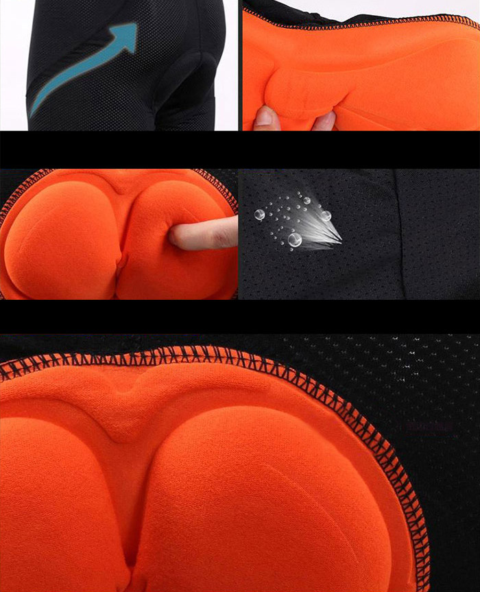 3D Sponge Padded Breathable Cycling Shorts