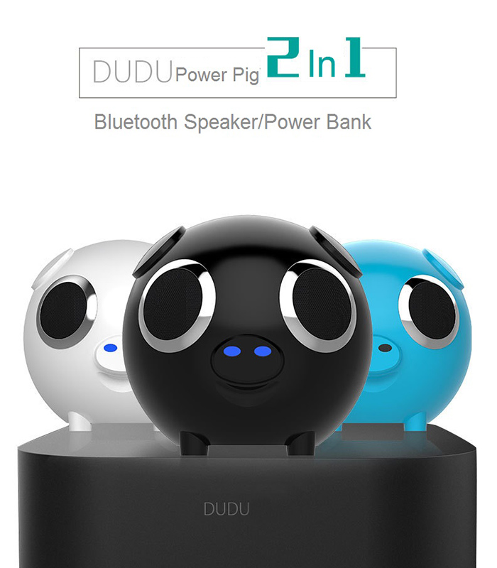 DUDU Pig Multifonction FM Radio Power Bank Bluetooth Speaker