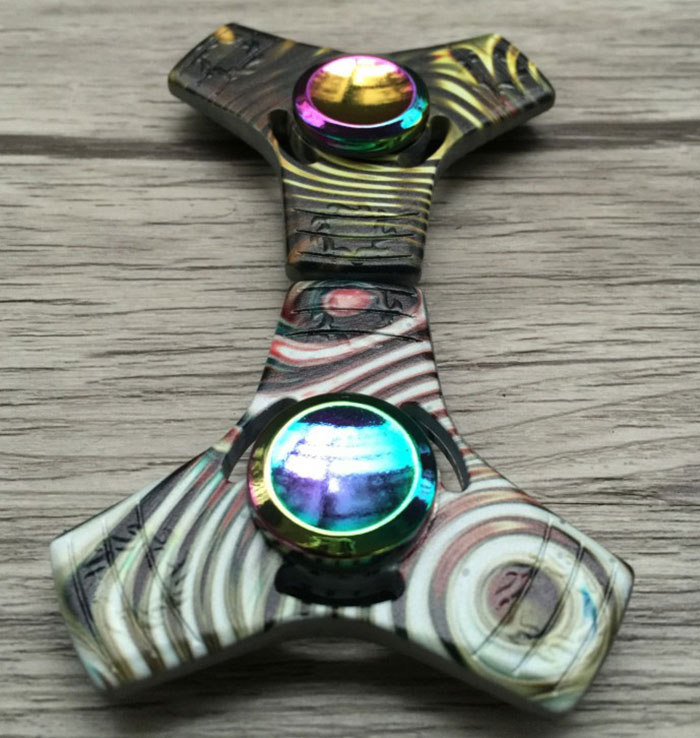 Colorful Triangle Stress Relief Toy Fidget Spinner