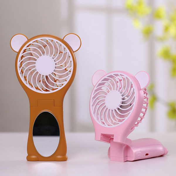 Bear Ear Design Miroir Folding Handheld USB Fan