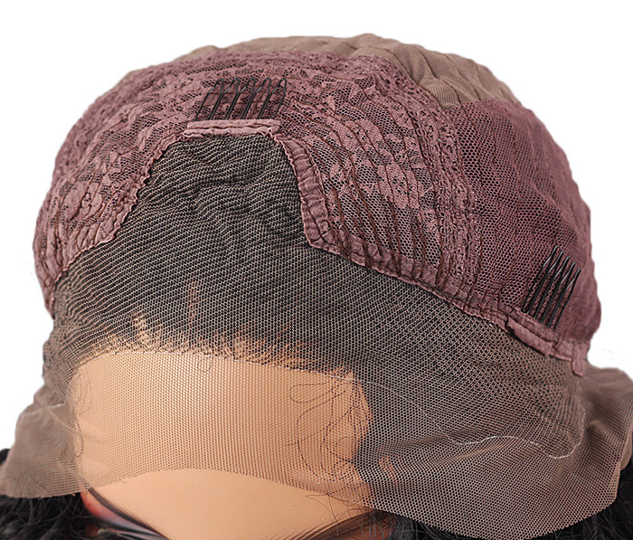Adidas Short Bob Swept Side Bang Straight Lace Front perruque synthétique