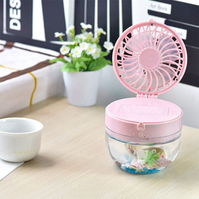 Mini LED USB Rechargeable Fish Tank Fan