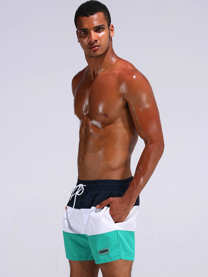 Patch Design Color Block Board Shorts