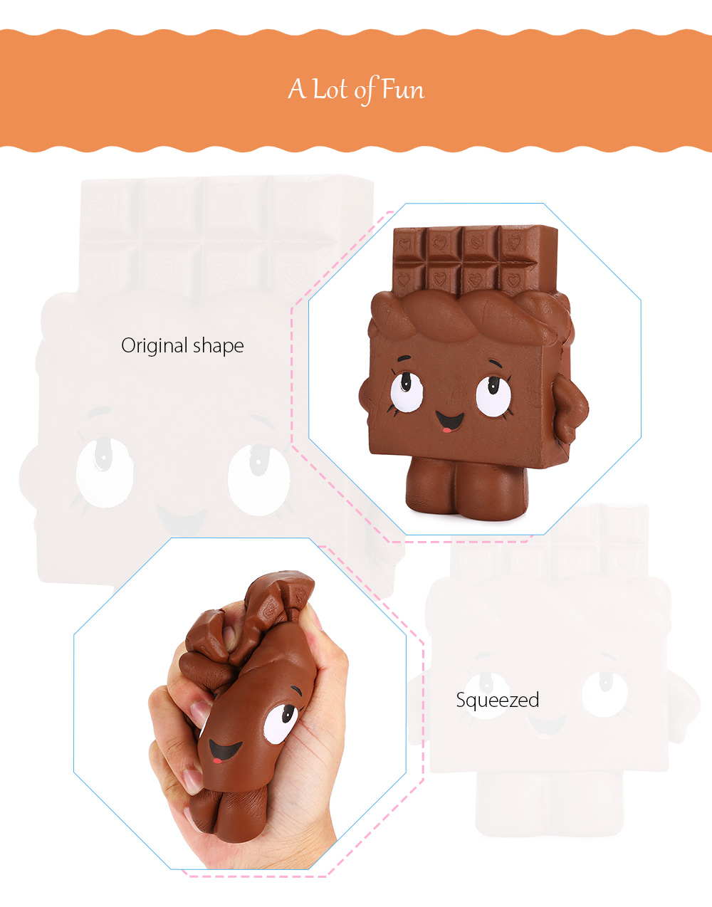 Slow Rising Squishy Chocolate Person Pu Simulation Toy