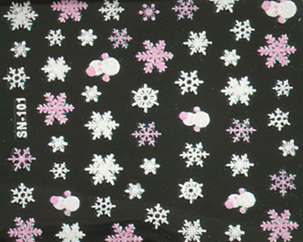 Snowflake Design Nail Sticker Manicure Decor Tools