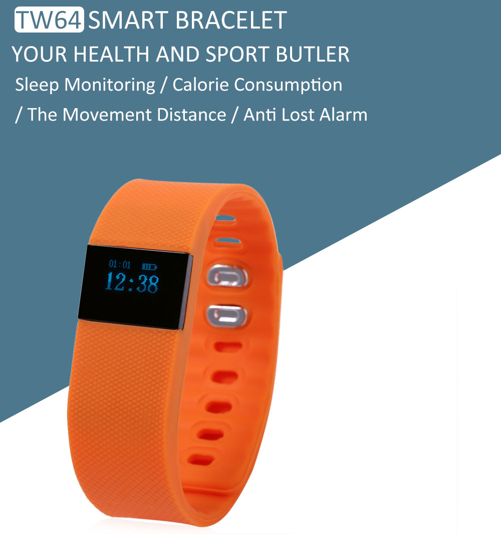 TW64 Smart Sports Bluetooth Watch Call Reminder Sleep Monitoring