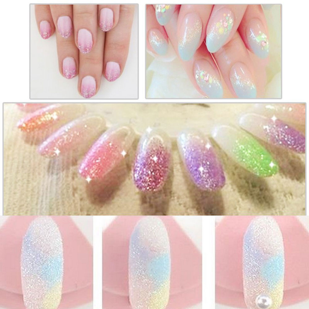 Mermaid Effect Glitter Nail Art Tip Decoration Magic Glimmer Powder Dust
