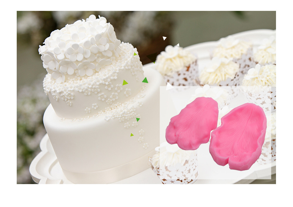 3D Leaves Silicone Cake Fondant Press Mold Decorating Tool