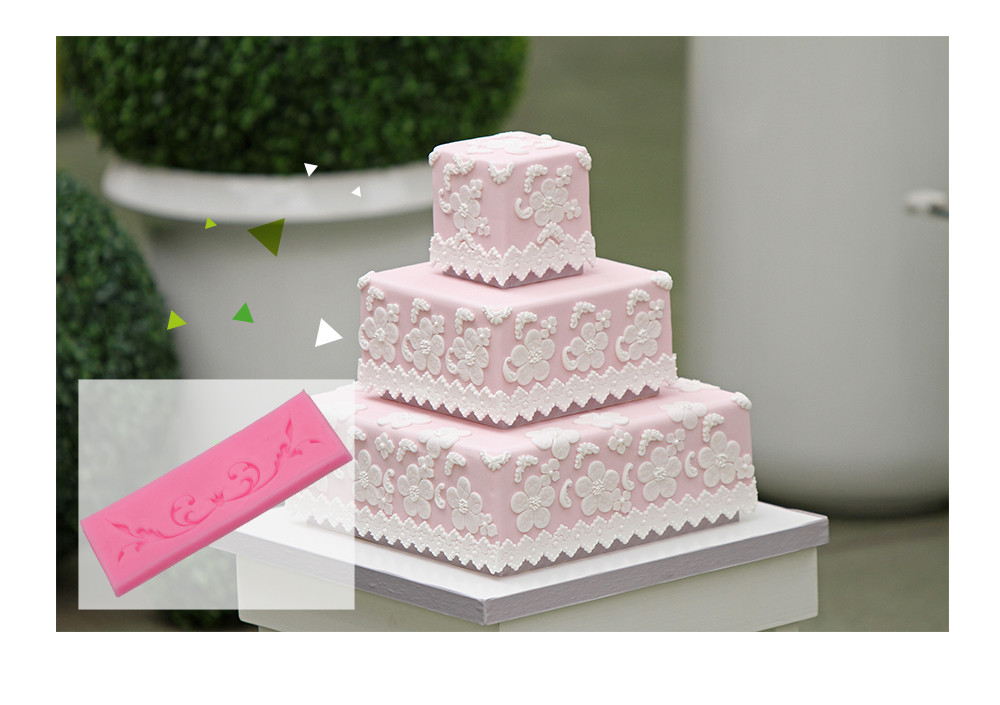 Creative Silicone Vine Lace Fondant Cake Decoration Mold