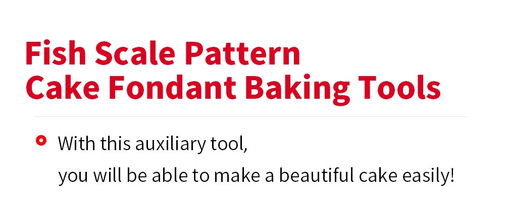 DIY Fish Scale Pattern Cake Fondant Baking Kit Decorating Tool