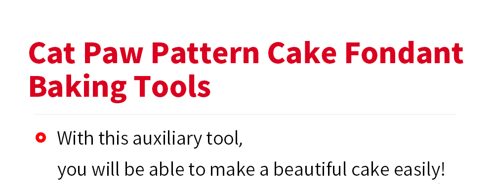 DIY Cat Paw Pattern Cake Fondant Baking Tool Decorating Mold