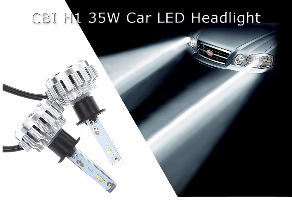 2pcs CBI H1 35W Car LED Headlight 3877 Online Shopping