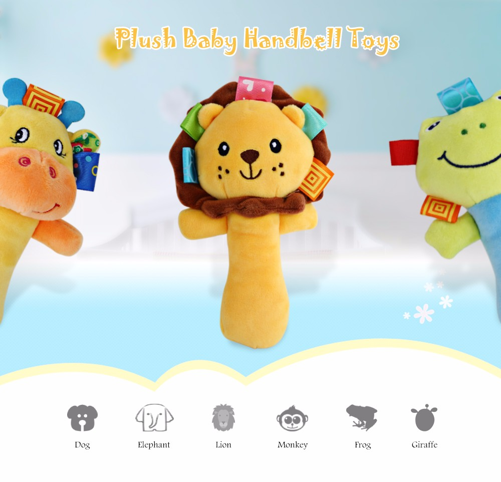 Sozzy Cartoon Plush Baby Handbell Toy