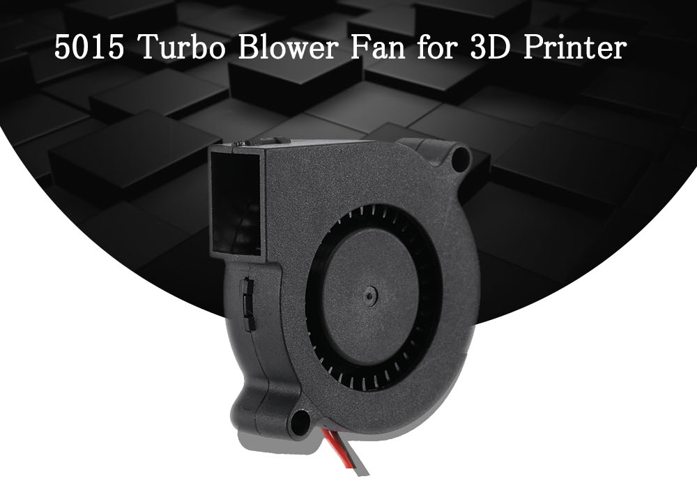31mm 5015 Ultra-quiet Turbo Small Fan for 24V 3D Printer Black Durable