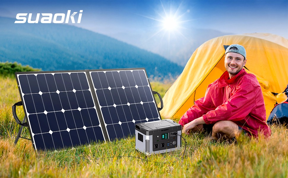 suaoki 100W solar panel sunpower 100W