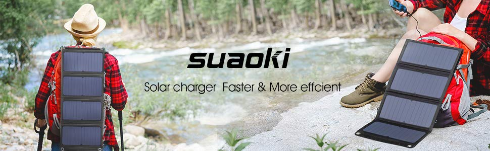 SUAOKI QC 3.0 Solar Charger