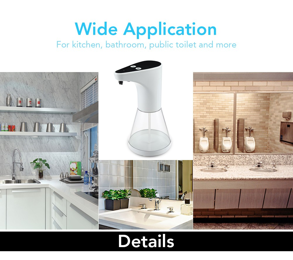 Electric Automatic Touchless Soap Dispenser Infrared Motion Sensor for Kitchen Bathroom 480ml