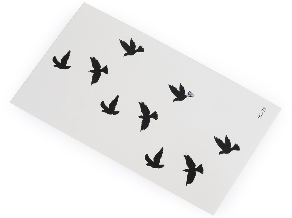 3D Wild Goose Pattern Temporary Tattoos Stickers