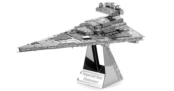 Imperial Star Destroyer Métallique Educative Puzzle de construction DIY Assemblé  Jouet