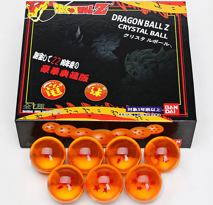 Jingyi Crystal Dragon Ball 7Pcs / Set Japan Anime Goku Cosplay 4cm Ball Desktop Decoration