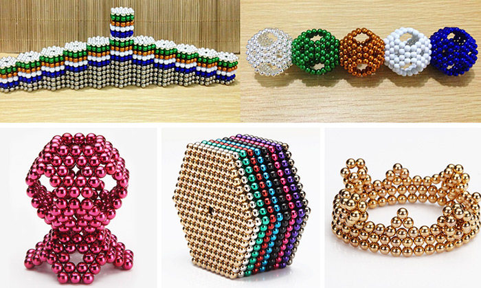 5mm Magnetic Ball Puzzle Novelty Toy for DIY - 216Pcs